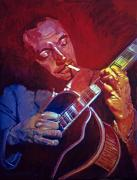 Music Legends Paintings - Django Sweet Lowdown by David Lloyd Glover