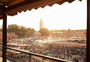 Moroccan Photos - Djemaa El Fina Place Morroco by Paul Viant