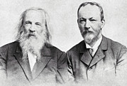 Predictions Prints - Dmitri Mendeleev And Bohuslav Brauner Print by Ria Novosti