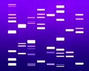 Biology Metal Prints - DNA purple Metal Print by Michael Tompsett