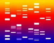 Genetic Prints - DNA sunset Print by Michael Tompsett