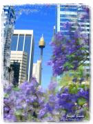 Sydney Photographs Prints - DO-00106 Spring in Sydney Print by Digital Oil