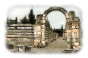 Roman Ruins Digital Art Posters - DO-00309 Arcade in Anjar - Dreamy Effect Poster by Digital Oil