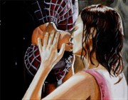 Superhero Paintings - Do I get to say Thank you this Time by Al  Molina
