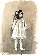 Tomboy Paintings - Do I Have To Wear A Dress by Arline Wagner