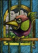 Whimsical Animals  Art - Do Not Call Me Polly by Teresa Nolen Pratt
