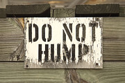Hump Posters - Do Not Hump Poster by Mike McGlothlen