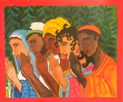 Ethnic Paintings - Do So in Prayer by Samantha Rochard