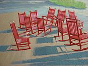 Rocking Chairs Originals - Do We Have A Quorum  by Robert Rohrich