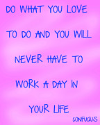 Encouragement Posters - Do What You Love - pink and blue  Poster by Nomad Art And  Design