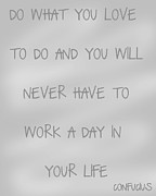 Encouragement Posters - Do What You Love - silver grey Poster by Nomad Art And  Design