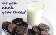Cookies And Milk Prints - Do You Dunk Your Oreos Print by Barbara Griffin
