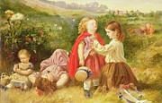 Playing Paintings - Do You Like Butter by Myles Birket Foster