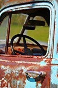 Old Chevy Truck Prints - Do You Need A Ride- Fine Art Print by KayeCee Spain
