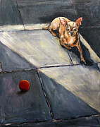 Chihuahua Originals - Do You Want to Play With My Most Precious Ball by Helga Gravitt