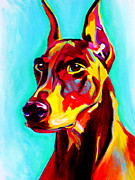 Pinscher Prints - Doberman - Prince Print by Alicia VanNoy Call