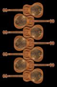 Neck Digital Art Posters - Dobro 3 Poster by Mike McGlothlen