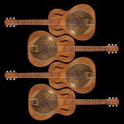 Hand Made Metal Prints - Dobro 5 Metal Print by Mike McGlothlen