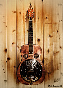 Dobro Digital Art Posters - Dobro Guitar Poster by Bill Cannon