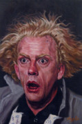 Albert Einstein Paintings - Doc Brown Christopher Lloyd  by Thomas Hoyle