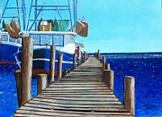 Bayous Painting Originals - Dock 2 by Scott Pelham