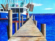 Bayous Painting Originals - Dock 3 by Scott Pelham