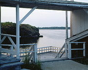 Large Format Posters - Dock at Ferry Crossing   Eastport Maine Poster by Geri Harkin-Tuckett