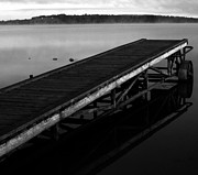 Rural Decay Prints Prints - Dock Print by Jerry Cordeiro