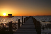 Chincoteague Island Prints - Dock On The Bay Print by Steven Ainsworth