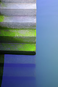 Abstract Lake Prints - Dock Stairs Print by Carlos Caetano
