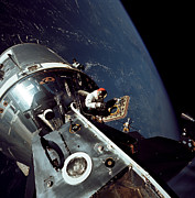 Space Art - Docked Apollo 9 Command And Service by Stocktrek Images