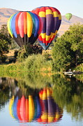 Prosser Balloon Rally Prints - Docked Balloons in Prosser Print by Carol Groenen