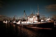 Fishing Industry Framed Prints - Docked for the Day Framed Print by Wenata Babkowski