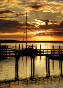 Sail Photographs Prints - Docked for the Night Print by Phill  Doherty
