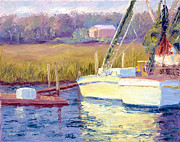 Fishing Creek Prints - Docked Print by Patricia Huff