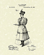 Period Drawings - Dockham Bicycle Skirt 1896 Patent Art  by Prior Art Design