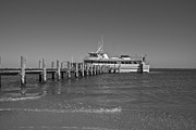 Boat Cruise Photo Prints - Docking for a Moment Print by Betsy A Cutler East Coast Barrier Islands