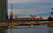 Canary Metal Prints - Docklands Train Metal Print by Dawn OConnor