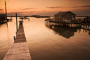 Boathouses Photos - Docks And Boathouses In Tylerton by Aaron Huey