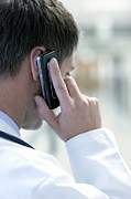 Telephone Posters - Doctor Talking On A Mobile Phone Poster by