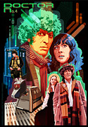Doctor Who Poster Framed Prints - Doctor Who Number Seven Framed Print by Garth Glazier