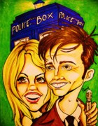 Tardis Digital Art - Doctor Who by Penny  Elliott