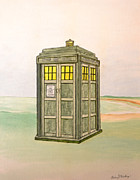 Dr Who Paintings - Doctor Who Tardis by Gordon Wendling