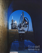 Film Camera Photo Prints - Documenting Shuttle Launch Print by Science Source