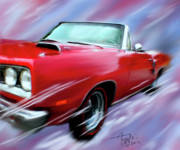 Old Cars Mixed Media - Dodge 440RT by Colleen Taylor