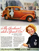 Shirley Temple Posters - Dodge Automobile Ad, 1936 Poster by Granger
