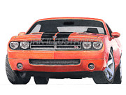 Challenger Mixed Media - Dodge Challenger Concept by James Robert