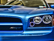 Srt8 Framed Prints - Dodge Charger Front Framed Print by Paul Ward