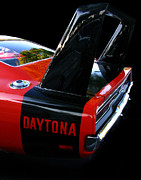 Red And Black Prints - Dodge Daytona Fin 02 Print by Peter Piatt