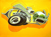 Custom  Studio Paintings - Dodge Super Bee Badge by Jeff Taylor